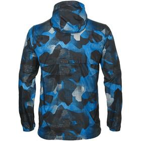 asics fuzeX Packable Løbejakke Herrer, camo geo directoire blue